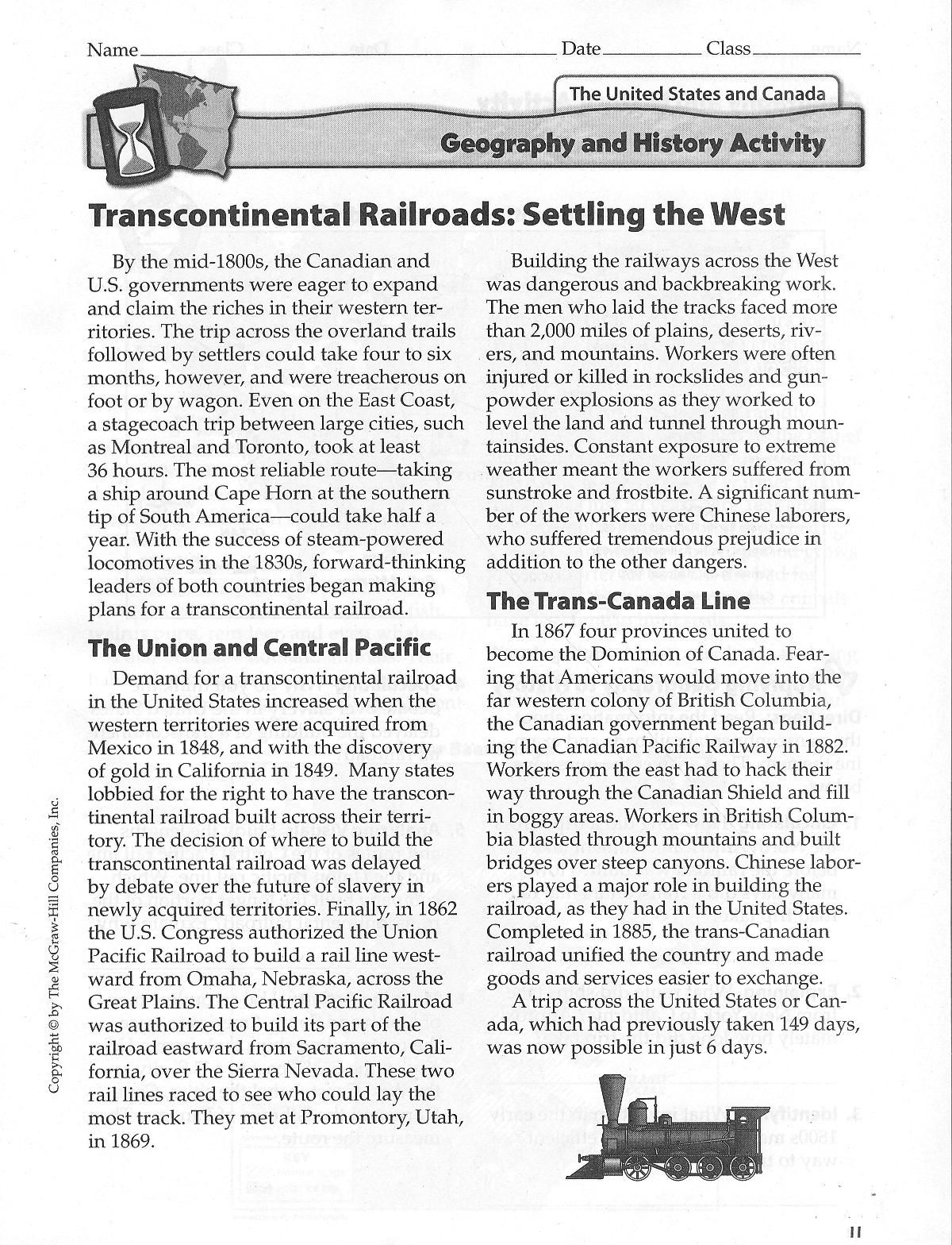 Quotes About Transcontinental Railroad. QuotesGram